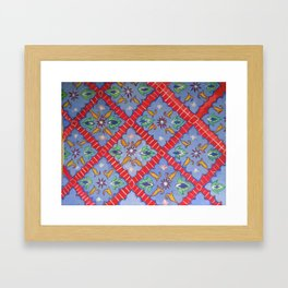 Tile Pattern Framed Art Print