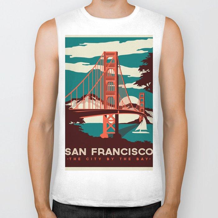 Vintage poster - San Francisco Biker Tank