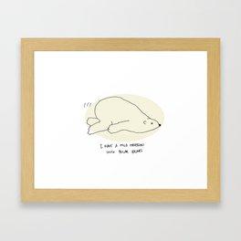 mild obsession with polar bears! Framed Art Print