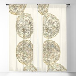 Zodiac chart of Northern and Southern constellations Blackout Curtain