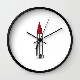 Lipstick-icecream Wall Clock