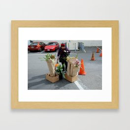 Caution - Orchid Crossing Framed Art Print