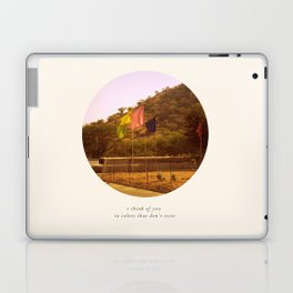i think of you in colors that don't exist Laptop & iPad Skin