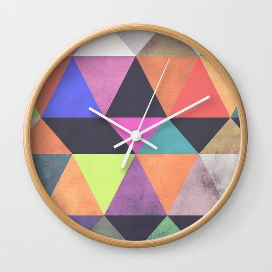 colour + pattern 12 Wall Clock