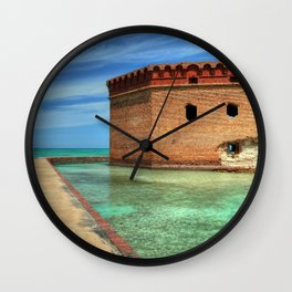 World Famous Dry Tortugas National Park Fort Jefferson Key West Florida United States Ultra HD Wall Clock
