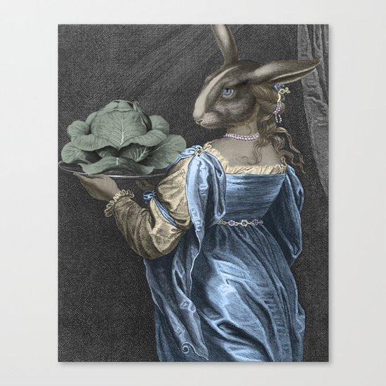 HEAD ON A PLATTER Canvas Print