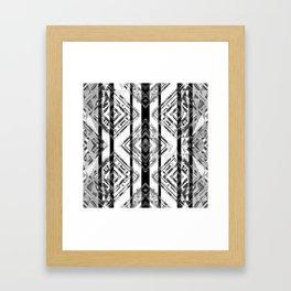 Black and White Tribal Boho Framed Art Print