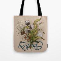 north carolina Tote Bags featuring North Carolina Memories by Jessica Roux