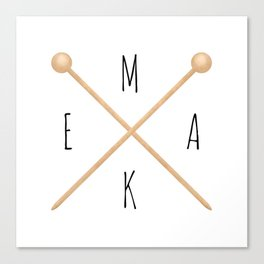 MAKE  |  Knitting Needles Canvas Print