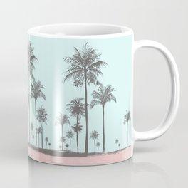 Beachfront palm tree soft pastel sunset graphic Coffee Mug