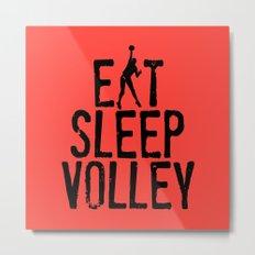 Eat Sleep Volley Metal Print