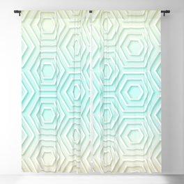 3D Hexagon Gradient Minimal Minimalist Geometric Pastel Soft Graphic Blackout Curtain