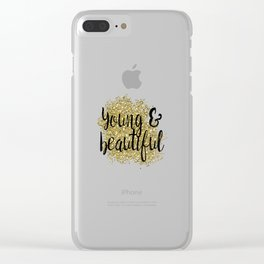 Young & beautiful - golden jazz Clear iPhone Case