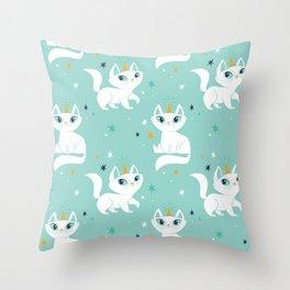 Magical Unicats! Throw Pillow