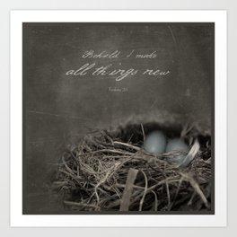 New Beginings~ nest Art Print