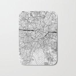 Munich White Map Bath Mat