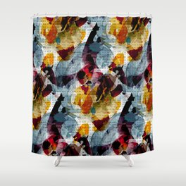 Dotty Watercolor Shower Curtain