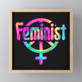 Feminist Hippie Framed Mini Art Print
