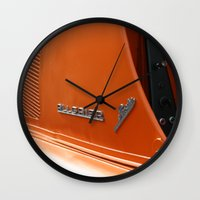 porsche Wall Clocks featuring Allgaier Porsche by Christine baessler
