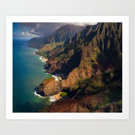 Na Pali Coast, Kaua'i, Hawai'i Art Print