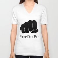 pewdiepie V-neck T-shirts featuring Pewdiepie by rita rose