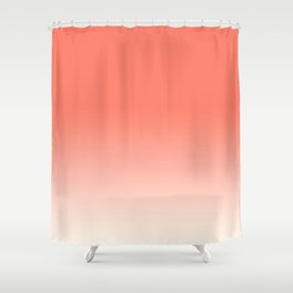 Coral Ombre, Dip Dye, Boho Shower Curtain