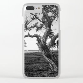 Tree in front of the sea Clear iPhone Case