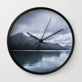 Mountains in Montana Wall Clock