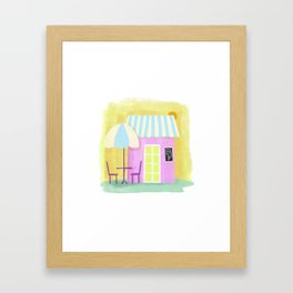 Ice Cream Shop Framed Art Print