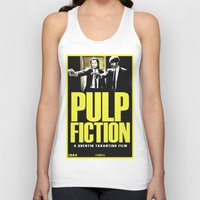 pulp Tank Tops featuring PULP FICTION by Rikartdo