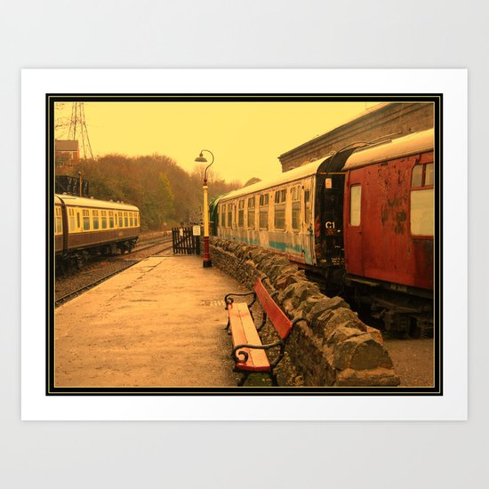Steam Railway Memorabilia. Art Print