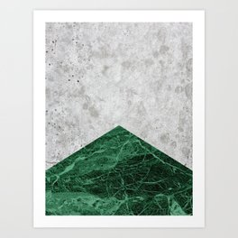 Concrete Arrow Green Granite #412 Art Print