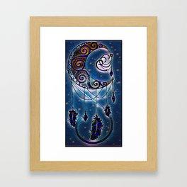 Moon swirl dreamcatcher Framed Art Print