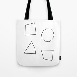 Let's Love Our Shapes! no.2 - Geometric Minimalism Tote Bag