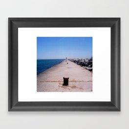 The lighthouse. Framed Art Print