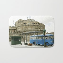 Castel Sant Angelo between past and present in color Bath Mat