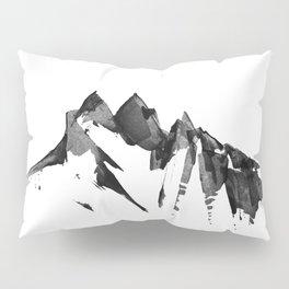 Mountain Painting   Landscape   Black and White Minimalism   By Magda Opoka Pillow Sham