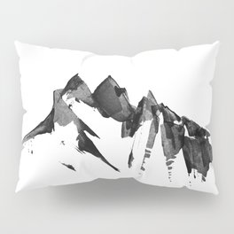 Mountain Painting | Landscape | Black and White Minimalism | By Magda Opoka Pillow Sham
