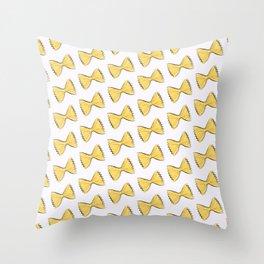 Pasta bow Throw Pillow