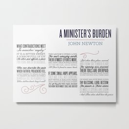 A Minister's Burden - sized Metal Print