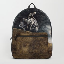 Skeleton Riding a Pale Horse Backpack