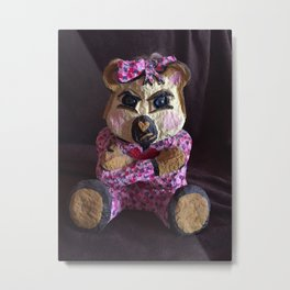 Teddy with attitude Metal Print