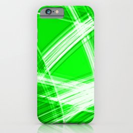 Darkened mirrored edges with salad diagonal lines of intersecting luminous bright energy waves. iPhone Case