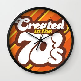 Created in the 70's Design Motif Wall Clock