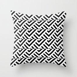 Optical pattern 84 black and white Throw Pillow