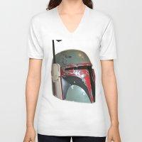 boba V-neck T-shirts featuring Boba Fett by McKenzie Nickolas