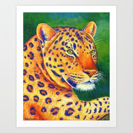 Queen of the Jungle - Leopard Art Print