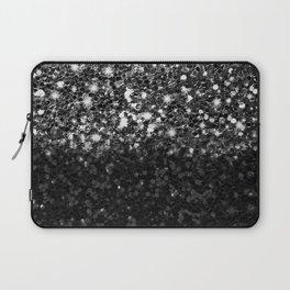 Black & Silver Glitter Gradient Laptop Sleeve