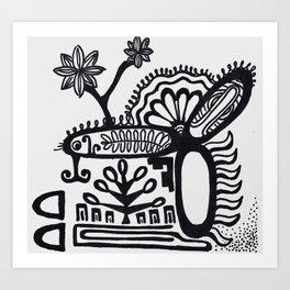Native Sharpie Art Print