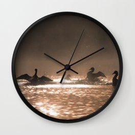 loon dance Wall Clock